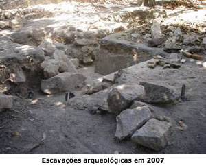 Escavações arqueológicas em 2007